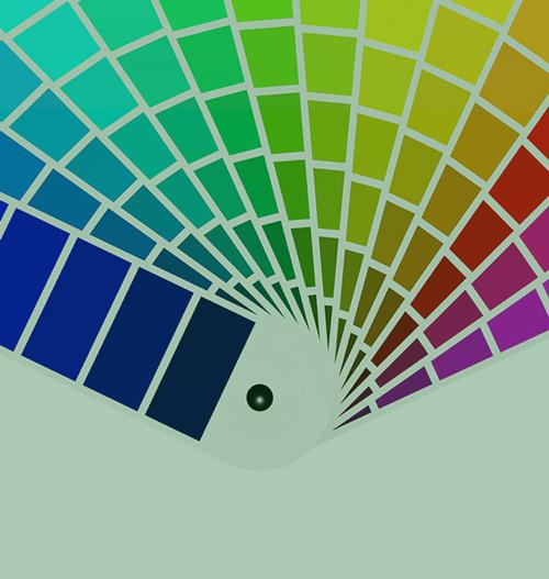 لوحة الألوان